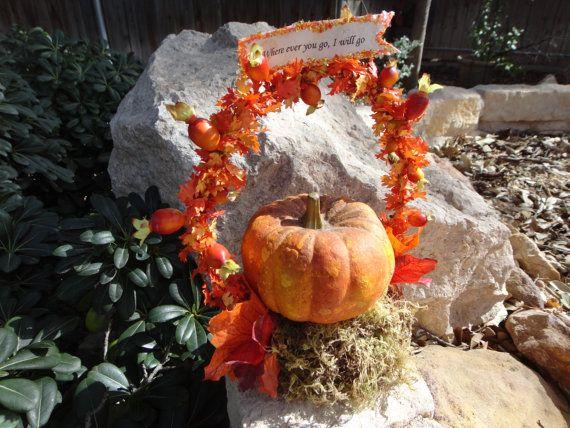 Fall Pumpkin Wedding Cake Topper or Decoration by Askmestudio