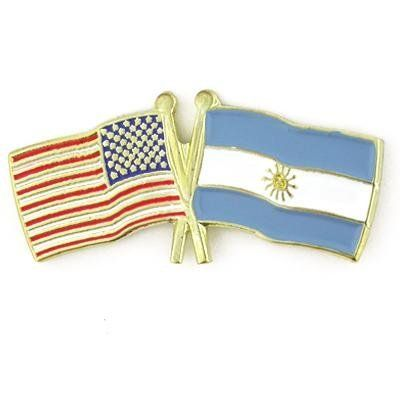 USA & Argentina Flag Pin. These two flags represent my two countries. My heart belongs to both of them.  LAS DOS BANDERAS DE MI DOS PAISES.