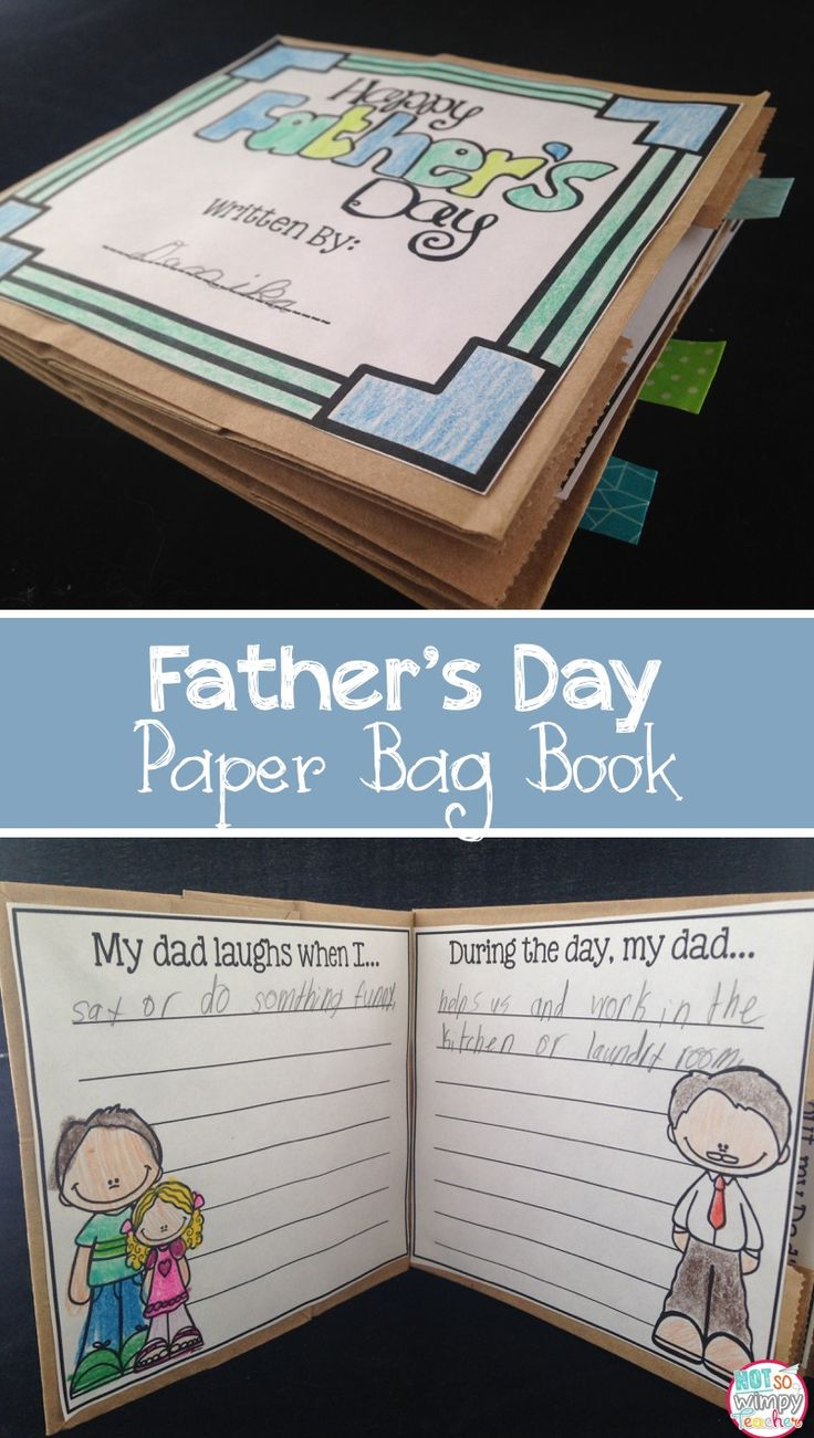 This Father's Day Paper Bag book is a simple and super cute gift for dad or grandpa! Great end of year craft!