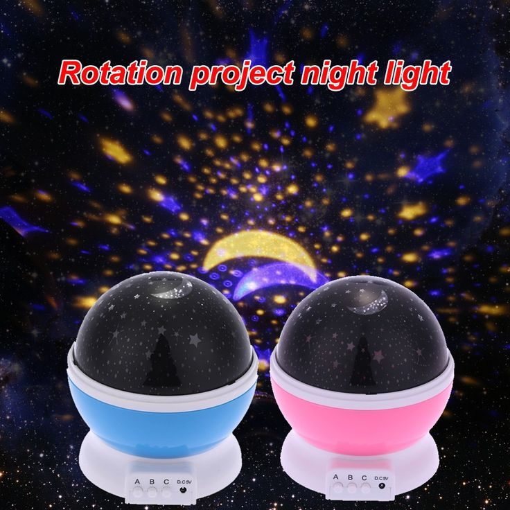 Fabulous LED Starry Sky Rotating Night Light Moon USB Ball Projector Lamp Degree Multi colored Romantic Children Baby Bedroom Nursery Use Christmas Festival Gift