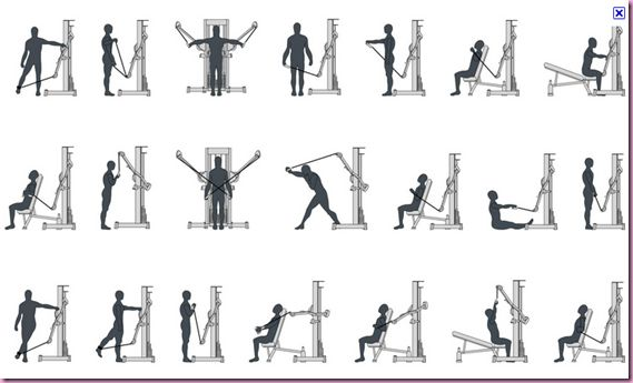 Cable Pulley Workout- So helpful! I never know what all to do on these machines!