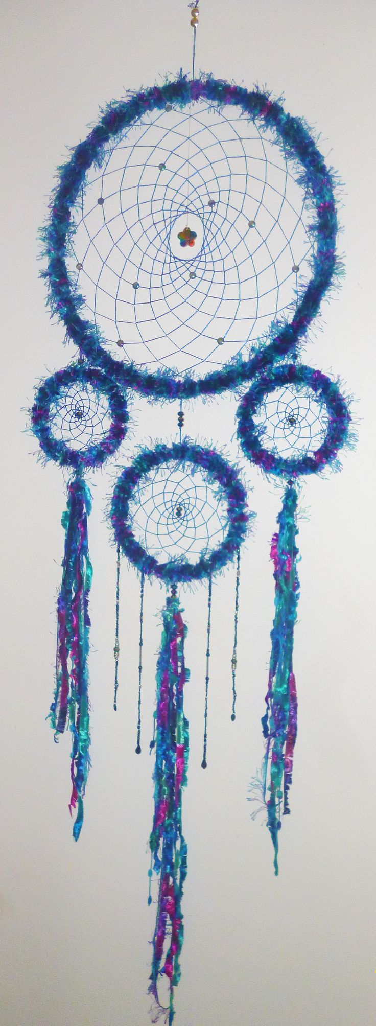 Large dreamcatcher made by Cheri Rose.