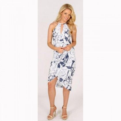 3RD LOVE Summer Bloom Halter Dress