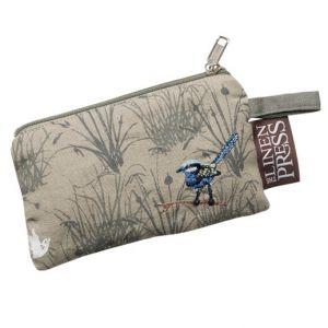 Blue Wren purse $10