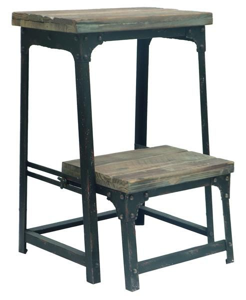 Industrial Step Stool - The Rustic Furniture Store