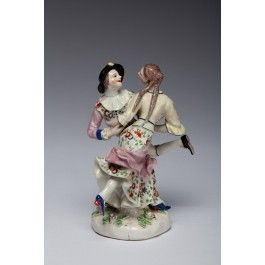 Harlequin and Columbine, from the Commedia dell'arte. Bow Porcelain Factory C1754