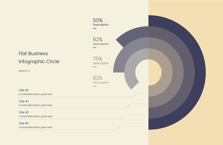 Flat Business Infographic Circle