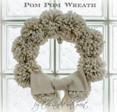 Anthropologie Knock-Off Tufted Wool Winter Wreath