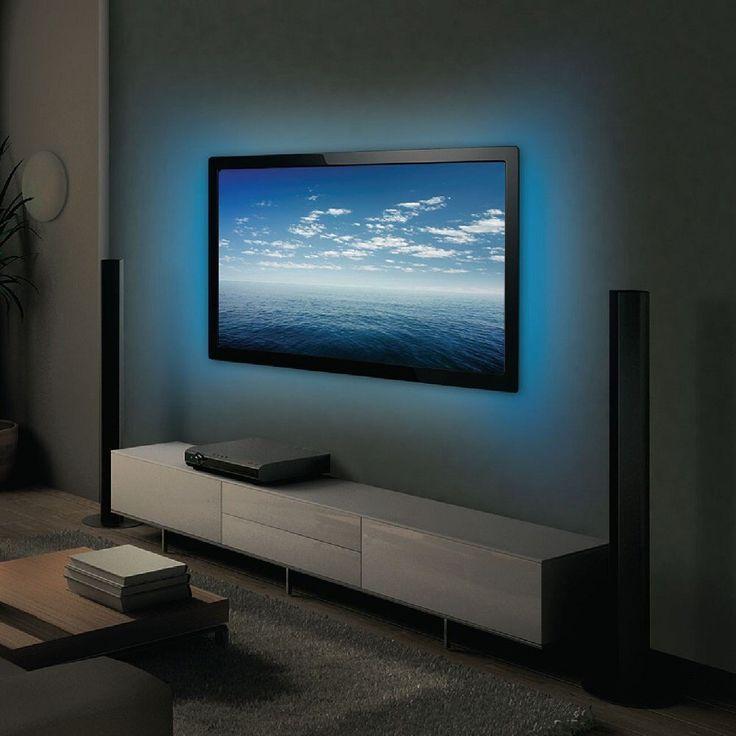 15 best bias lighting tv backlight accent lighting tv lights strip images on pinterest tv. Black Bedroom Furniture Sets. Home Design Ideas