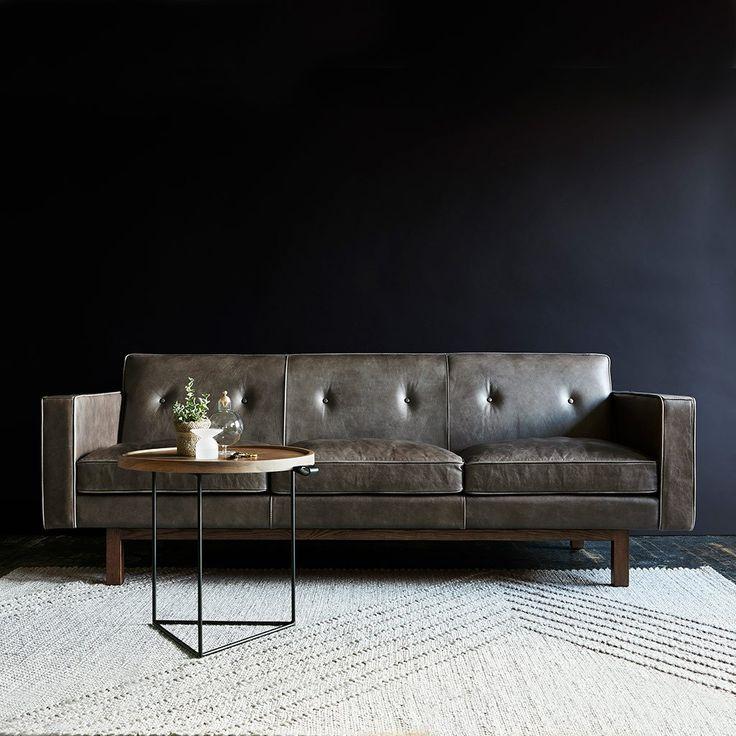 Embassy Sofa   Saddle Grey Leather