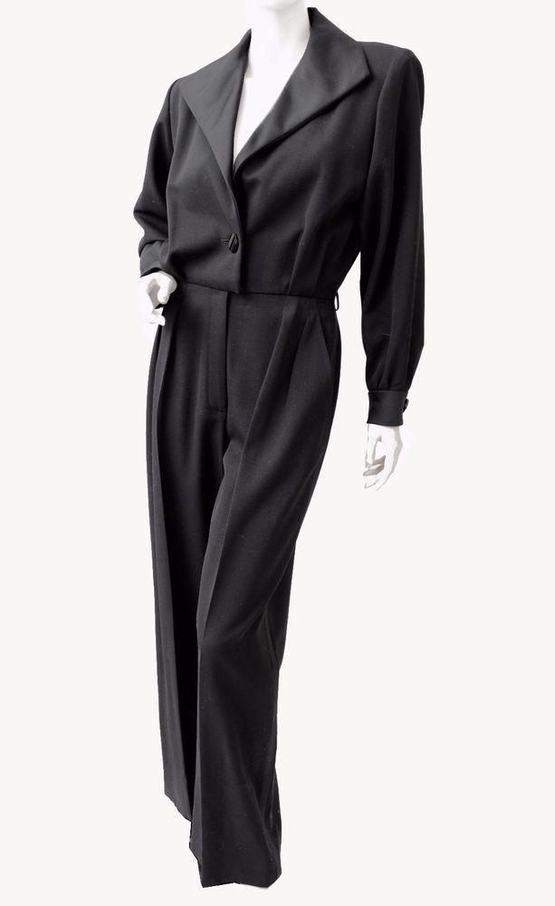 2598ceb84b0 Yves Saint Laurent Jumpsuit Black Tuxedo Le Smoking YSL Rive Gauche 90s New  40 #YvesSaintLaurent #Jumpsuit #Cocktail