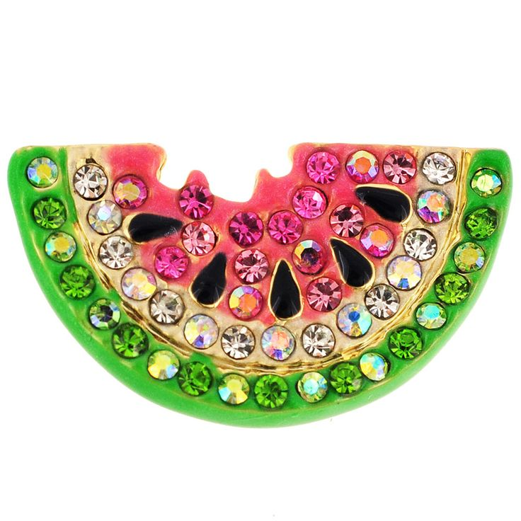 Pink Watermelon Swarovski Crystal Pin Brooch