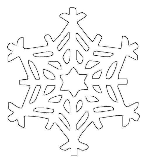 Schneeflocken und Sterne Kostenlose Malvorlage