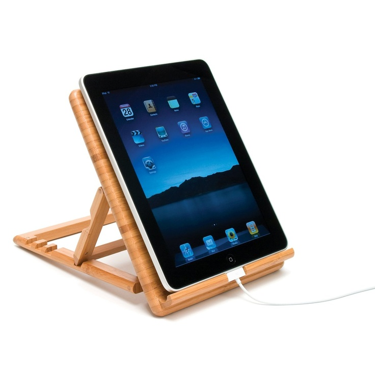 Lipper Bamboo Adjustable / Expandable iPad Stand