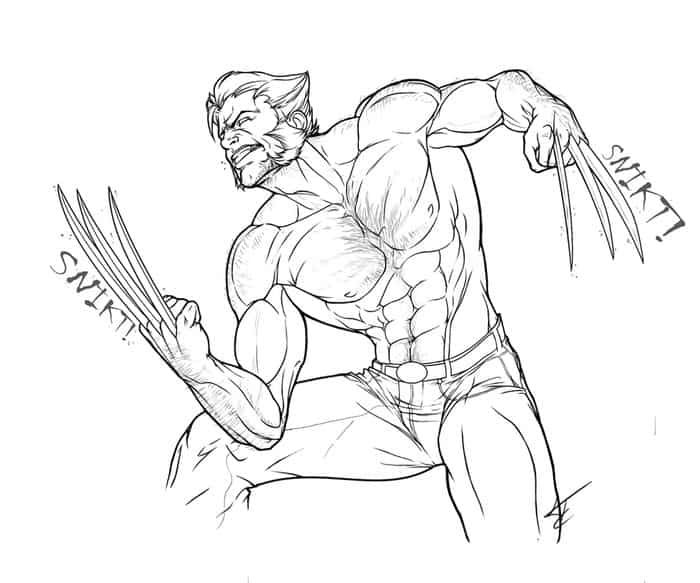 Wolverine Coloring Pages Outline In 2020 Superman Coloring Pages Hulk Coloring Pages Superhero Coloring