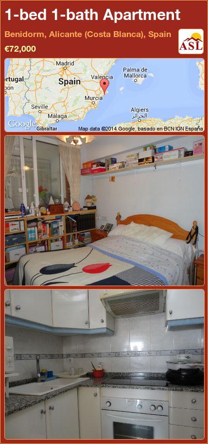 1-bed 1-bath Apartment in Benidorm, Alicante (Costa Blanca), Spain ►€72,000 #PropertyForSaleInSpain