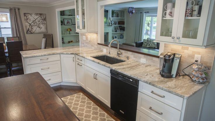 Dark Granite Countertops With White Cabinets Color Schemes