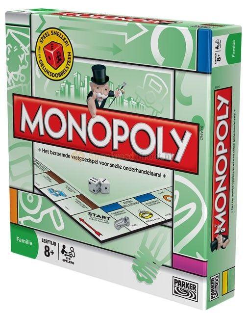Monopoly Classic - Bordspel  Monopoly is één van het best verkochte bordspel ter wereld. Het doel van het spel 'Monopoly' is een monopolie op te bouwen wat spelers kunnen doen door zo veel mogelijk straten op te kopen. Iedere speler die in een straat verblijft moet de eigenaar van die straat huur betalen. Word rijk met Monopoly! Geschikt vanaf 8 jaar voor 2 tot 8 spelers.  EUR 32.99  Meer informatie