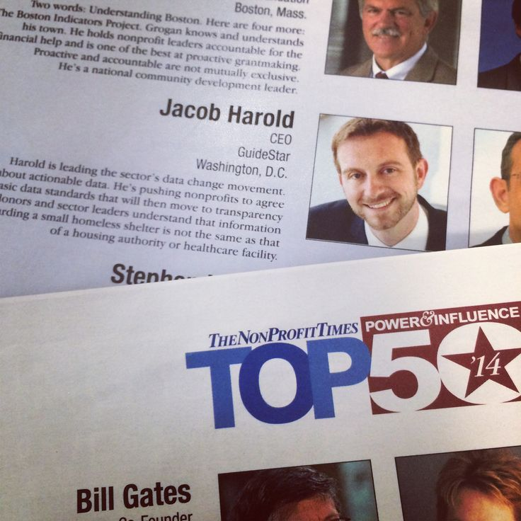 We're so proud of our CEO Jacob Harold for being named one of NonProfit Times Power and Influence Top 50! npo.gs/1m52Hc3