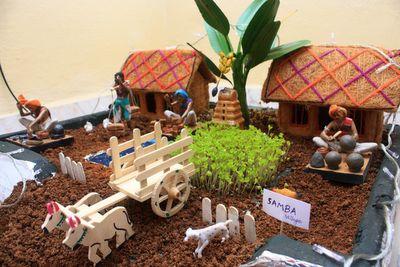 Agriculture Based Theme For Golu In Bharatmoms Com Dolls Navaratri Ae Habba Festival Decor And Crafts