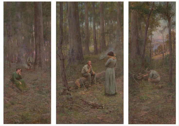 The pioneer - Frederick McCubbin, National Gallery of Victoria
