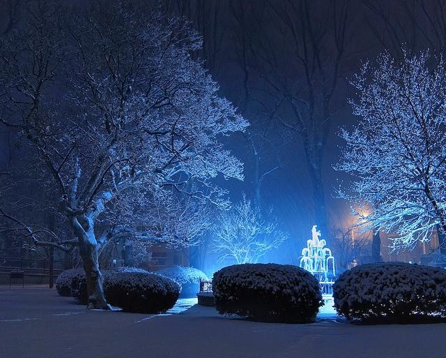 Winter Night, Crystal City, MO by dcd.49, via Flickr
