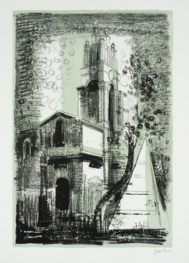 John Piper '20. St Anne's, Limehouse, London: by Nicholas Hawksmoor', 1964 © The Piper Estate