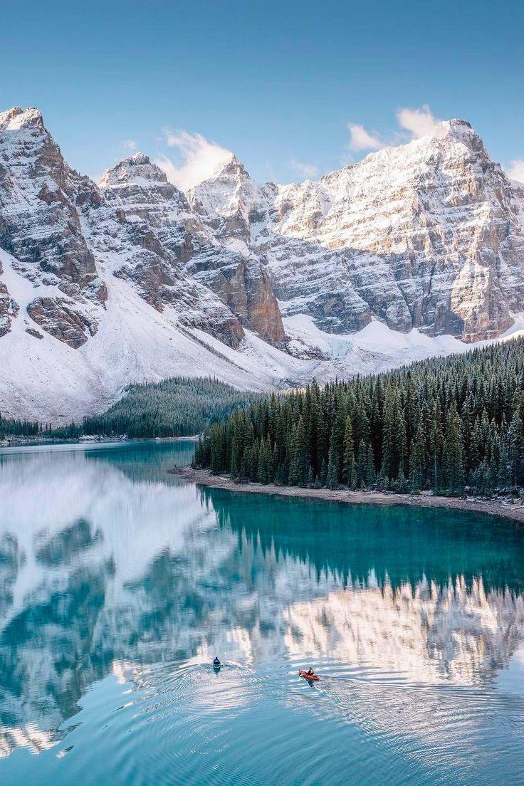 ***Kayaking in Moraine Lake (Banff, Alberta) by Stevin Tuchiwsky