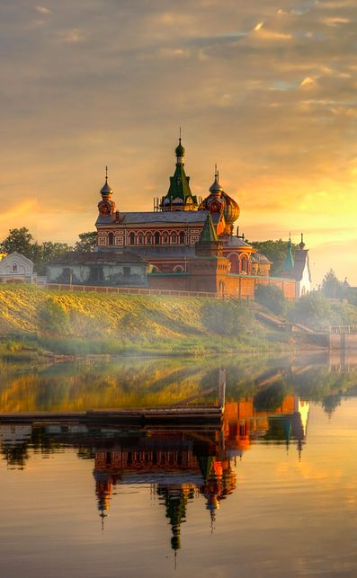 Lake Ladoga is located in the Republic of Karelia and Leningrad Oblast in Northwestern Russia just outside the outskirts of St.Petersburg and is the largest lake in Europe.