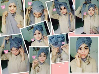 Pintar Pakai Jilbab: Cara Memakai Jilbab Turban Polos