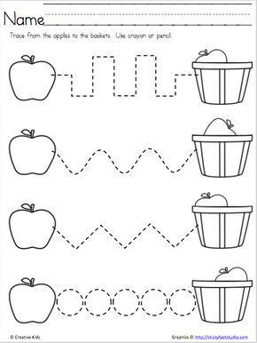 Apple Time – Free Fine Motor Skills Page – Madebyteachers