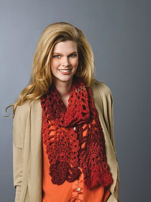 Lacy Pineapple #Crochet #Scarf #MichaelsStores