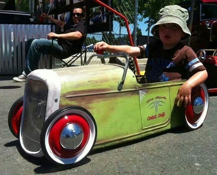 pedal car rat rod i think his dad has a little extra time on his hands so fun get the kids involved