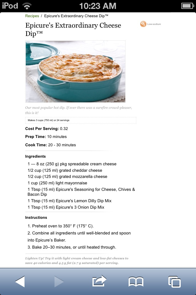 Epicure Extraordinary Cheese Dip- @ Shanda this is sooo yummy.. I make it a lot