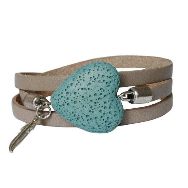 Lovely for Valentine: leather wrap-bracelet Balansz LA72