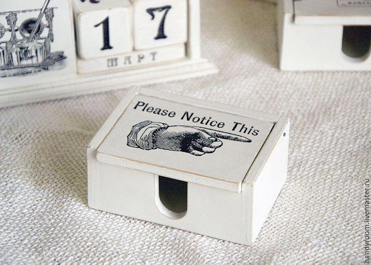 Купить Визитница «Please notice this» - белый, визитница, Декупаж, ретро, винтаж, французский винтаж