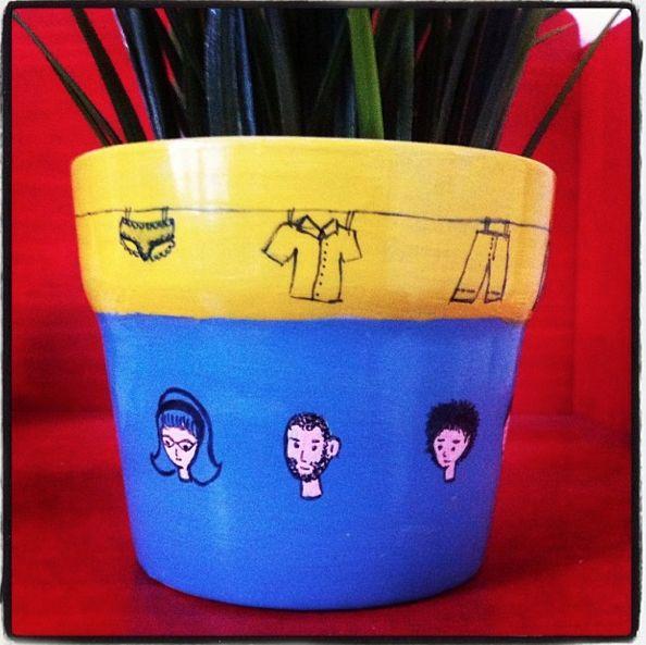 flower pot #faces