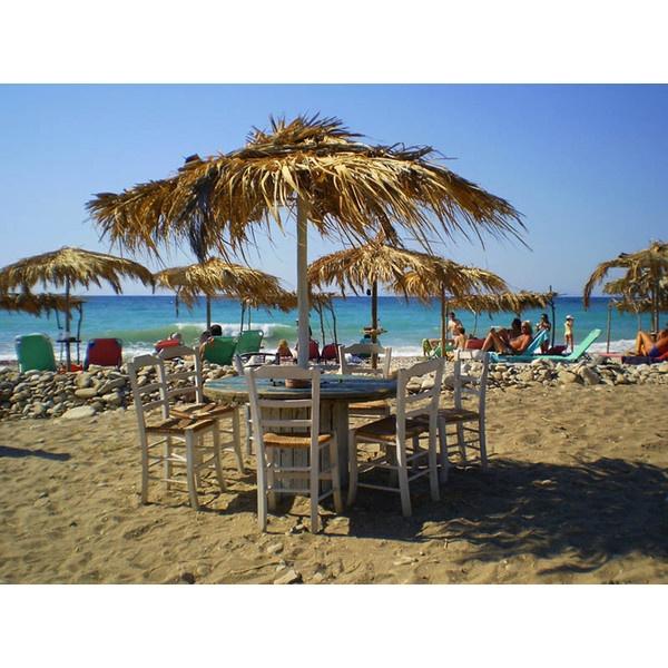 Hippys beach cafe, a photo from Samos, North Aegean | TrekEarth found on Polyvore