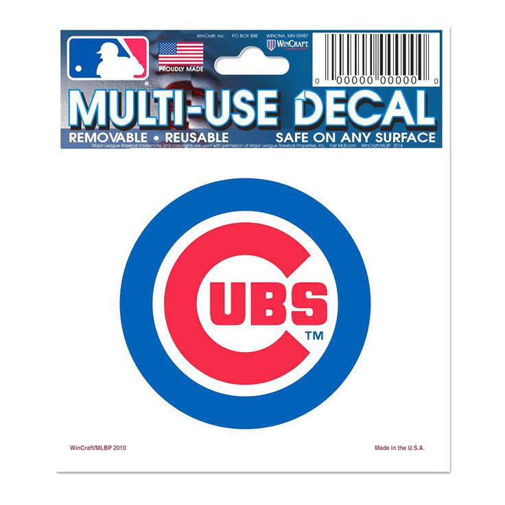 """Chicago Cubs WinCraft 5"""" x 6"""" Multi-Use Wordmark Decal - $3.19"""