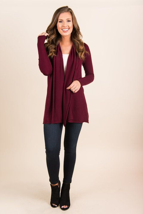 You'll love this cardi so much you'll feel like you're floating! The material is so warm and soft! You'll want to take this cardi with you everywhere! And we certainly have no objections to that! Material has generous amount of stretch. Chelsea is wearing the small/medium.