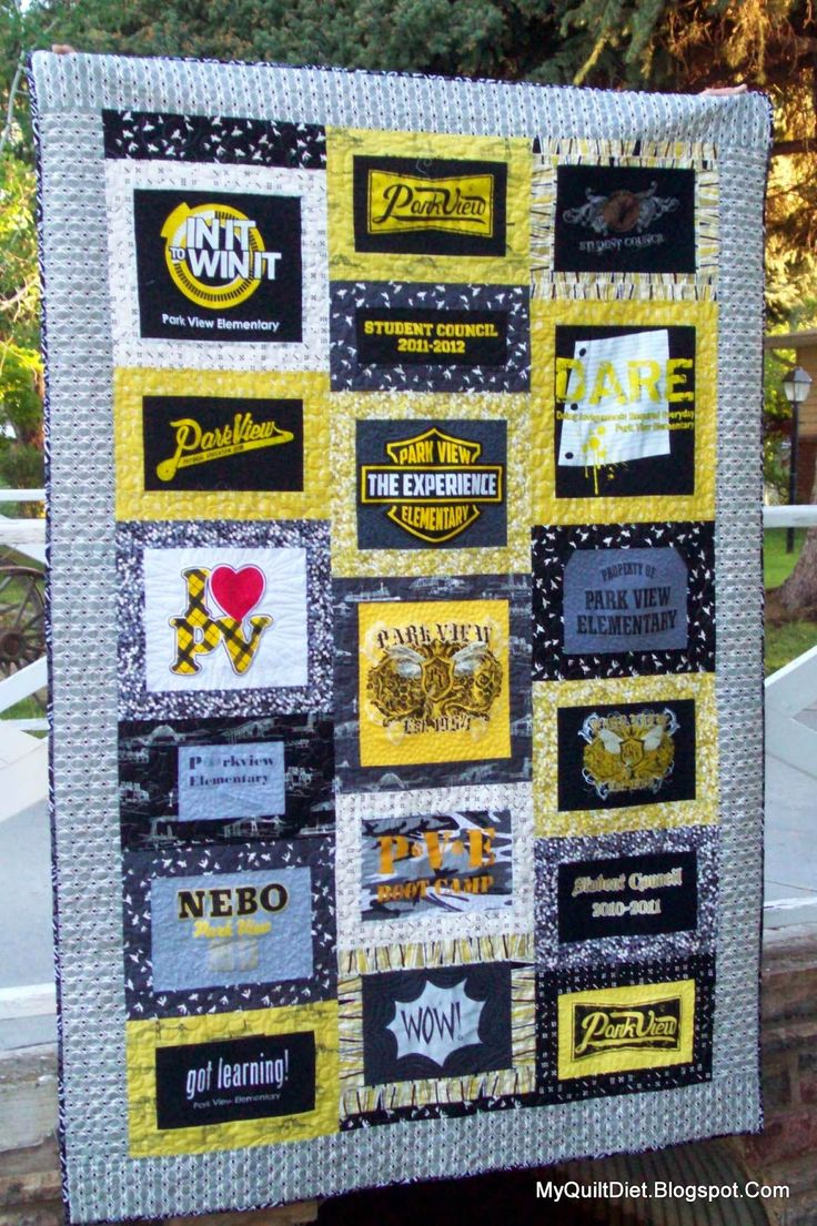 Piercing ideas for quilt backing  My Quilt Diet Park View TShirt Quilt  Quilts  Pinterest