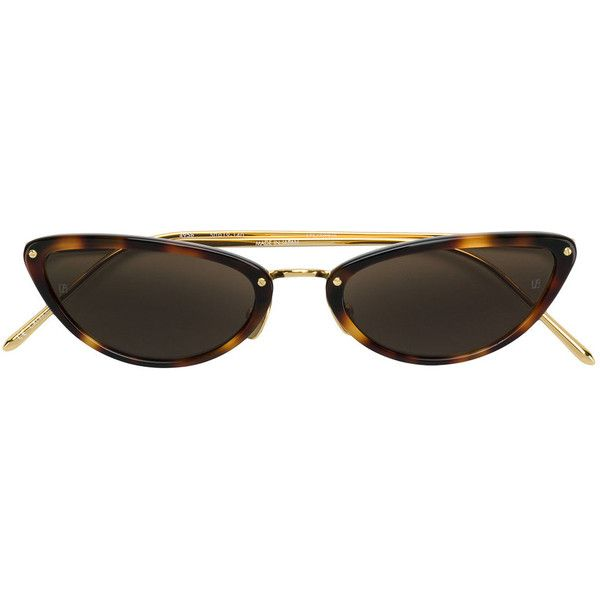 Linda Farrow vintage cat eye sunglasses (2,975 SAR) ❤ liked on Polyvore featuring accessories, eyewear, sunglasses, brown, linda farrow sunglasses, linda farrow glasses, cat eye glasses, vintage sunglasses and vintage cat eye sunglasses