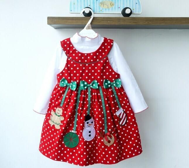 Fashion Design Baby Girls Christmas Jumper Corduroy Dresses White Shirt And Red Dress Holiday Outfit Set Kids Costume Gd80722 34 From Cnbabywholeseller, $72.41   Dhgate.Com