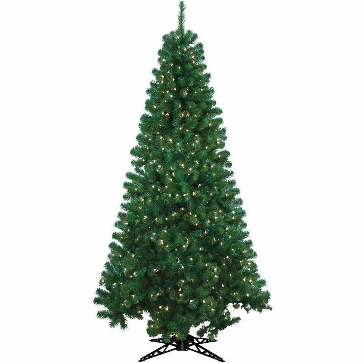 6.5 Ft Realistic Artificial Christmas Tree 300 Lights Pre-Lit Indoor W Stand