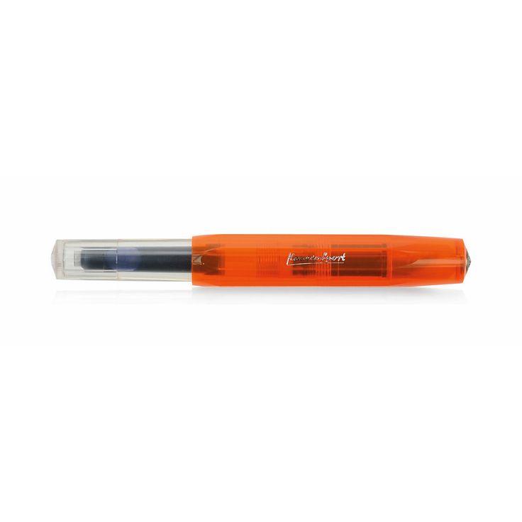 Taschenfüllfederhalter mit Stahlfeder und Iridiumspitze für Tintenpatronen. Geschlossen nur 10,5... - Füllfederhalter Kaweco Sport Kunststoff