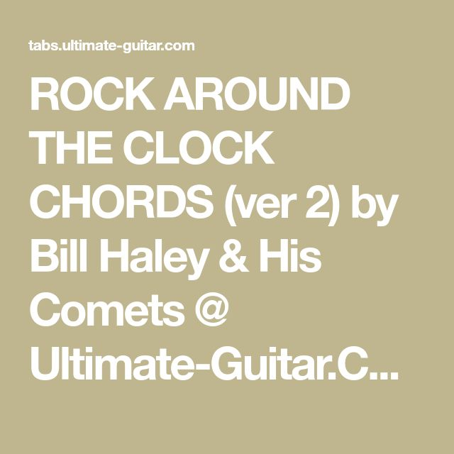 Rock around the clock guitar chords