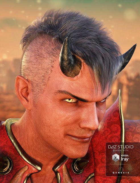 Download DAZ Studio 3 for FREE!: DAZ 3D - Asher Hair for Genesis 3 Male