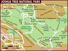 Map of Joshua Tree National Park