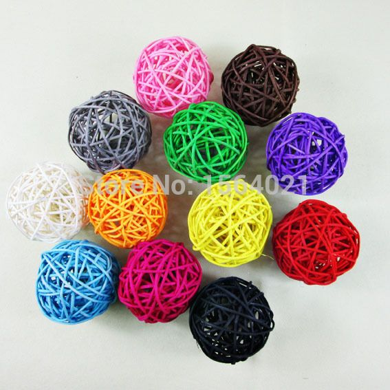 Find More Christmas Decoration Supplies Information about Free shipping 5cm sorts of colors Rattan balls Christmas decorative wicker balls Small Sepak Takraw Ball Decoration 50pcs/lot,High Quality balle balle meaning,China ball us Suppliers, Cheap ball nozzle from YUGUO INDUSTRY AND TRADE LIMITED on Aliexpress.com