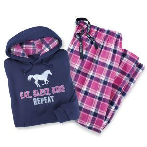 Eat Sleep Ride Repeat Hoodie - Horse Themed Gifts, Clothing, Jewelry and Accessories all for Horse Lovers | Back In The Saddle